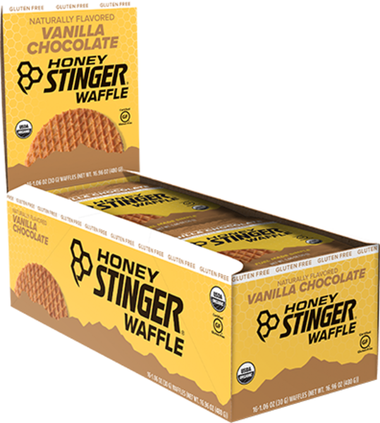 Honey Stinger Gluten Free Organic Waffle Flavor | Size: Vanilla Chocolate | Single Serving 16-pack