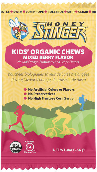 Honey Stinger Kids' Organic Energy Chews Flavor | Size: Mixed Berry | Single Serving
