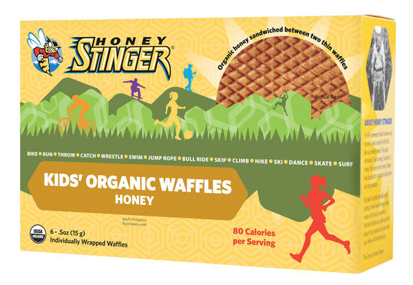 Honey Stinger Kids' Organic Stinger Waffle Flavor | Size: Honey | 6-pack