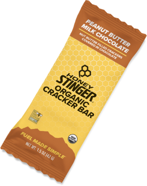 Honey Stinger Organic Cracker Bar Flavor | Size: Peanut Butter Milk Chocolate | Single Serving