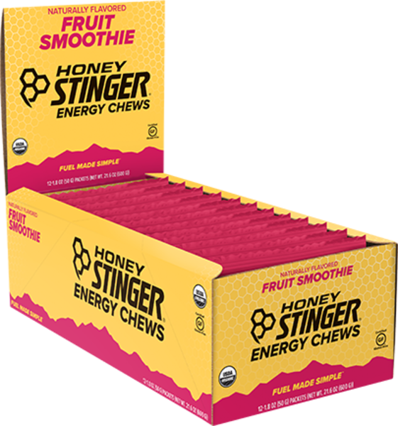 Honey Stinger Organic Energy Chews Flavor | Size: Fruit Smoothie | Single Serving 12-pack