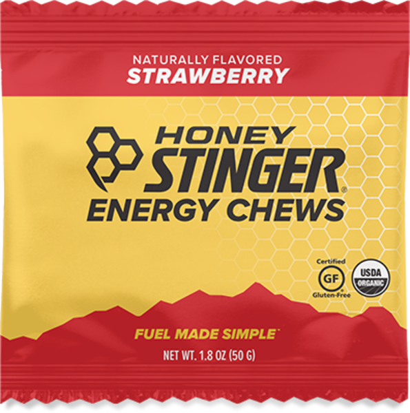Honey Stinger Organic Energy Chews Flavor | Size: Strawberry | Single Serving