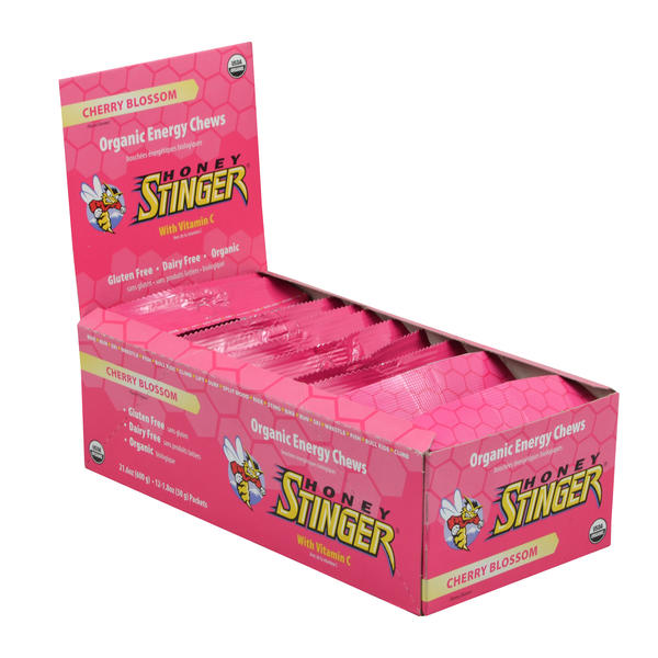 Honey Stinger Organic Energy Chews Flavor | Size: Cherry Blossom | 12-pack