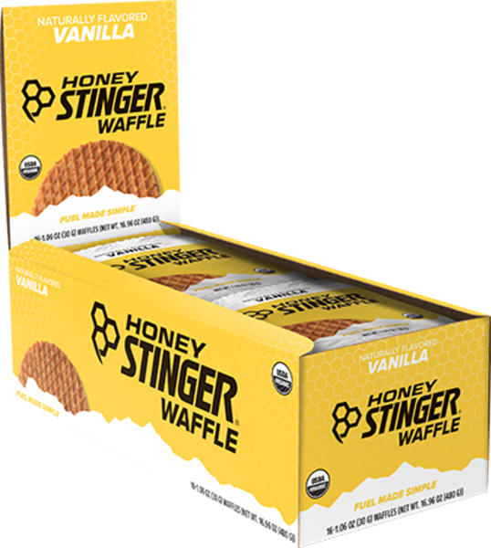 Honey Stinger Organic Waffle Flavor | Size: Vanilla | Single Serving 16-pack