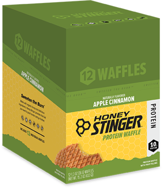 Honey Stinger Protein Waffle Flavor | Size: Apple Cinnamon | Single Serving 12-pack