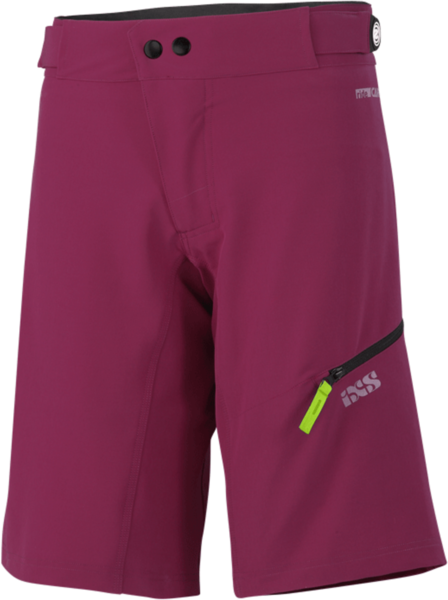 iXS Carve Women Shorts Color: Aubergine