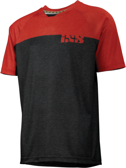 iXS Progressive 7.1 Jersey Color: Black/Fluor Red