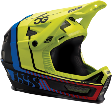 iXS Xult Helmet Color: Black-Blue-Lime