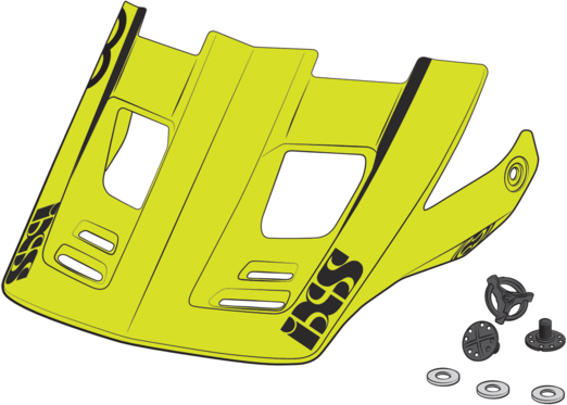 iXS Xult Visor +Pins Color: Black-Blue-Lime