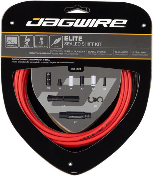 Jagwire Elite Sealed Shift Cable Kit Color: Red