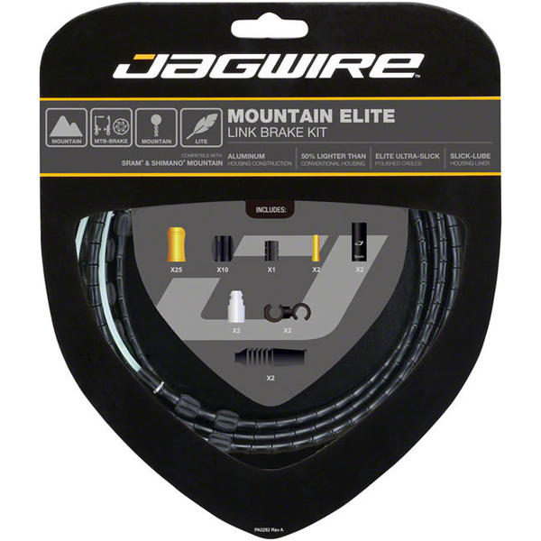 Jagwire Mountain Elite Link Brake Kit Color: Black