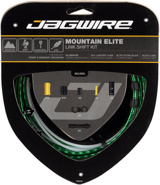 Jagwire Mountain Elite Link Shift Kit Color: Limited Green