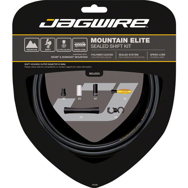 Jagwire Mountain Elite Sealed Shift Cable Kit Color: Frozen Black