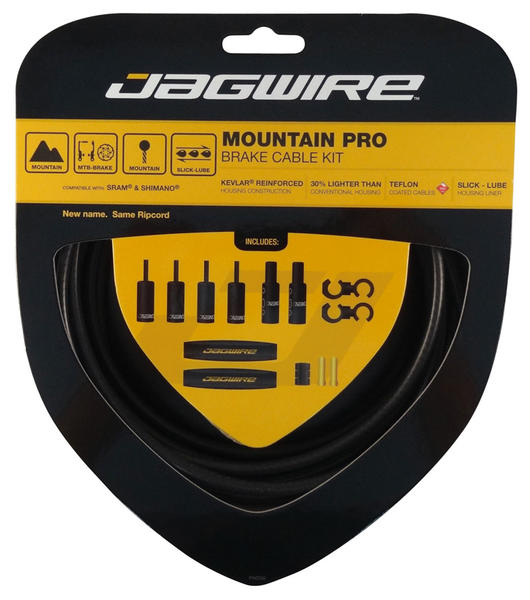Jagwire Mountain Pro Brake Cable Kit Color: Black Carbon