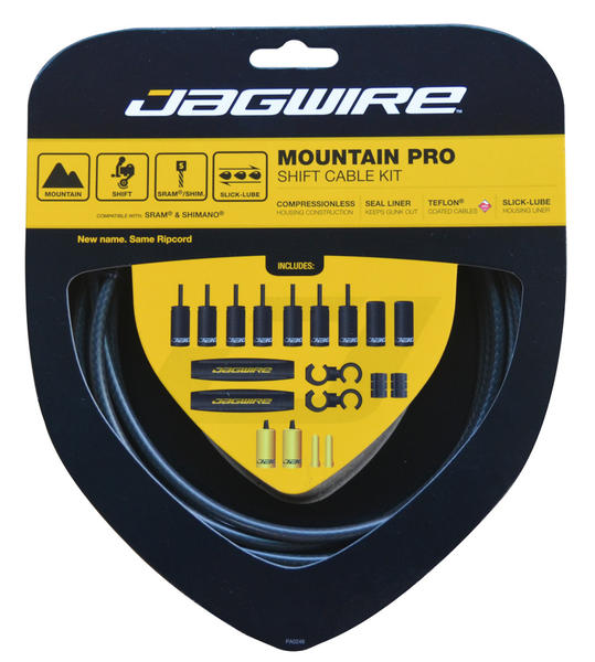 Jagwire Mountain Pro Shift Cable Kit Color: Black Carbon
