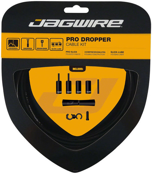 Jagwire Pro Dropper Cable Kit Color: Black