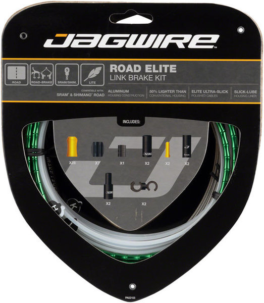 Jagwire Road Elite Link Brake Kit Color: Limited Green