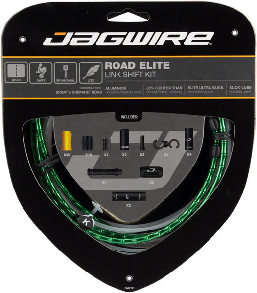 Jagwire Road Elite Link Shift Kit Color: Limited Green