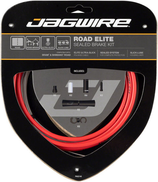 Jagwire Road Elite Sealed Brake Cable Kit Color: Red