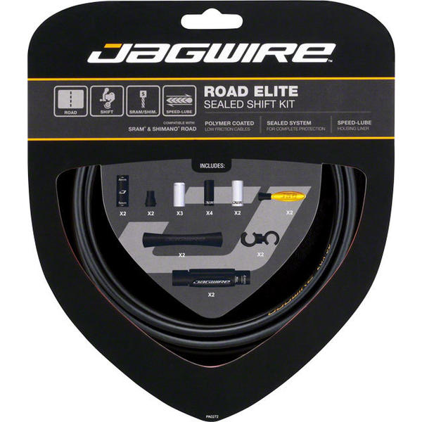 Jagwire Road Elite Sealed Shift Cable Kit Color: Frozen Black
