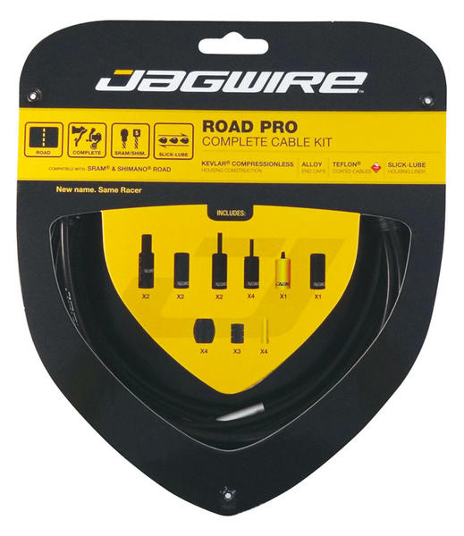 Jagwire Road Pro Complete Cable Kit Color: Black