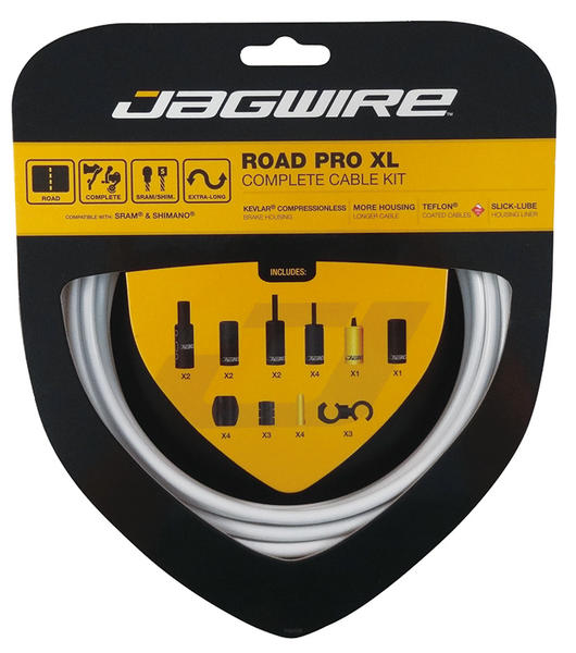 Jagwire Road Pro XL Complete Brake and Shift Cable Set Color: White
