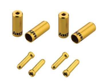 Jagwire Universal Pro End Cap Packs Color: Gold