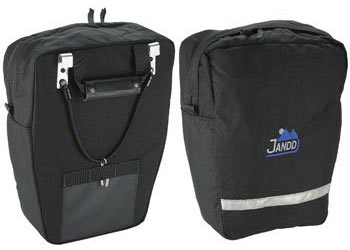 Jandd Economy Pannier Set Color: Black