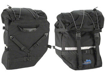 Jandd Large Mountain Pannier Set Color: Black