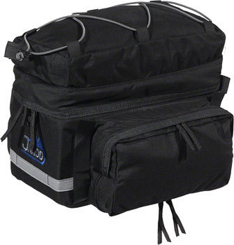Jandd Rear Rack Pack w/Side Panniers Color: Black
