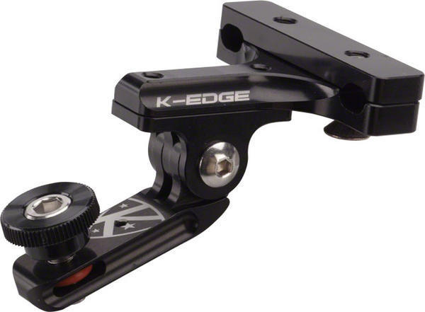 K-Edge GO BIG Pro Saddle Rail Mount (1/4x20) Color: Black