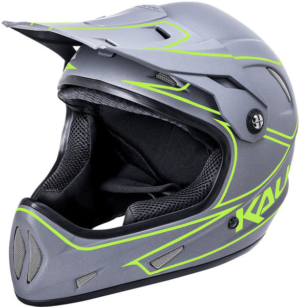 Kali Protectives Alpine Youth Color: Rage - Matte Gray Fluo Yellow