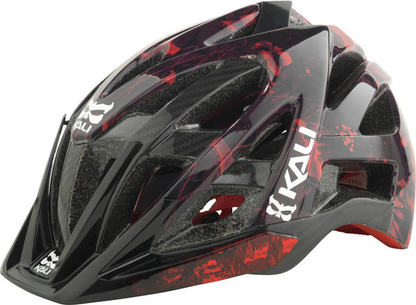 Kali Protectives Avana Enduro Helmet Color: Grunge Red