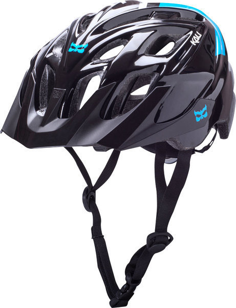 Kali Protectives Chakra Solo Helmet Color: Neo Black/Blue