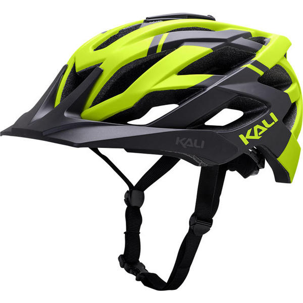 Kali Protectives Lunati Helmet Color: Matte Black/Fluorescent Yellow