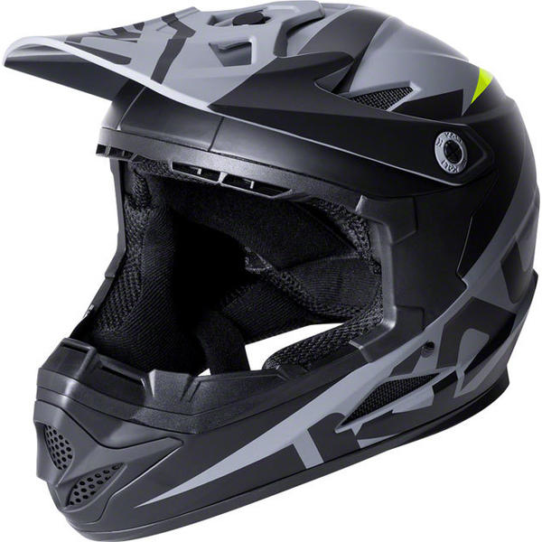 Kali Protectives Zoka Youth Helmet Color: Dual Solid Matte Black/Lime