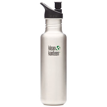 Klean Kanteen 27oz Klean Kanteen Classic w/Sport Cap Color: Brushed Stainless