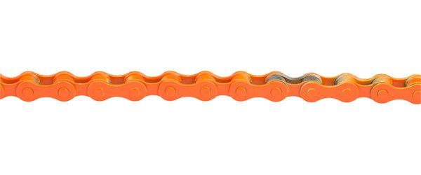 KMC Z410 BMX Chain Color | Length | Speeds: Orange | 112 Links | Single