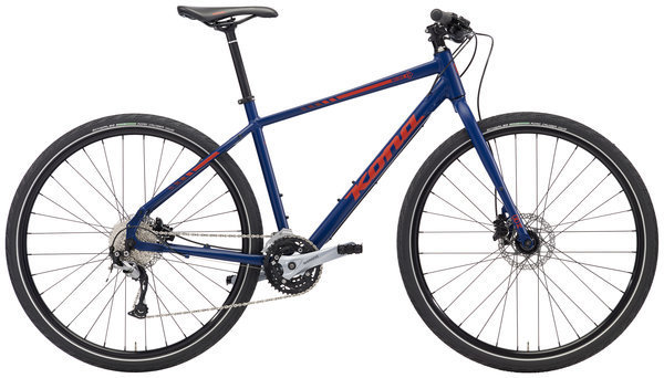 Kona Big Dew Color: Matt Navy Blue w/ Red Decals