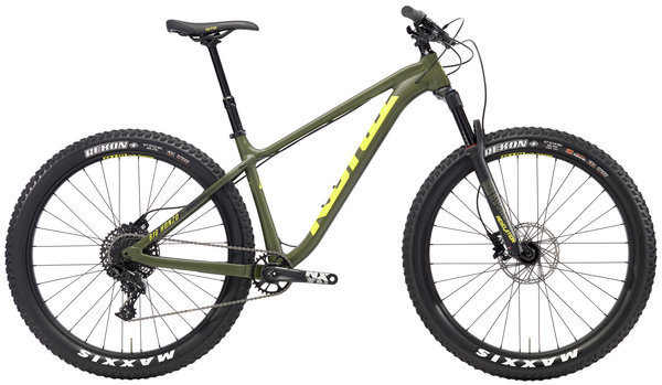 Kona Big Honzo DL Color: Matt Olive w/Charcoal & Yellow Decals