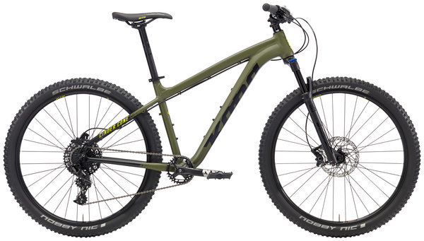 Kona Cinder Cone Color: Matt Black/Olive w/Black & Yellow Decals