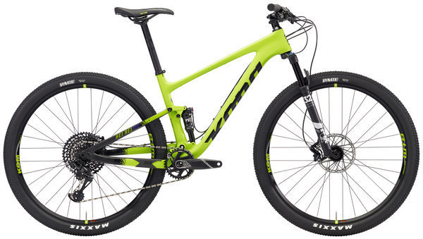 Kona Hei Hei Race DL Color: Matt Lime/Black w/Black, Purple & Lime Decals