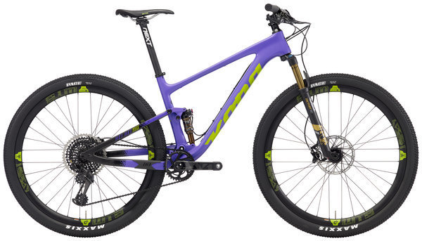 Kona Hei Hei Race Supreme Color: Matt Purple/Black w/Black, Lime & Purple Decals