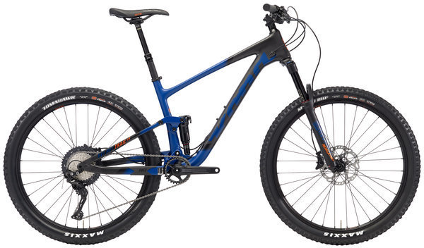 Kona Hei Hei Trail CR 27.5 Color: Matt Dark Blue/Black w/Black & Orange Decals