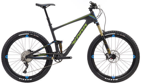 Kona Hei Hei Trail DL 27.5 Color: Matt Orange/Lime/Blue