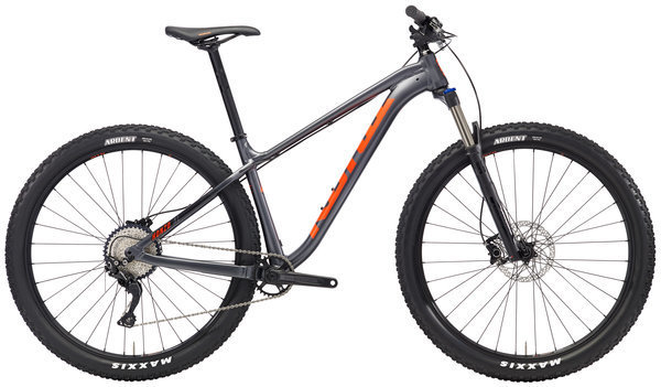 Kona Honzo AL Color: Matt Charcoal w/Black & Orange Decals