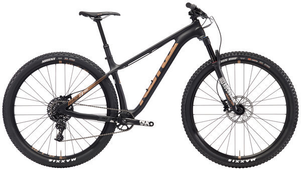 Kona Honzo CR Trail Color: Matt Black w/White & Copper Decals