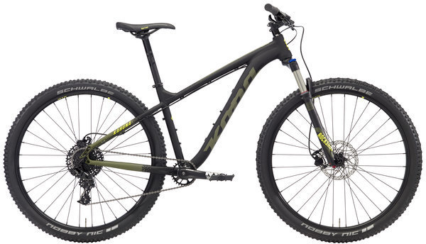 Kona Kahuna Color: Matt Black/Olive w/Olive & Yellow Decals