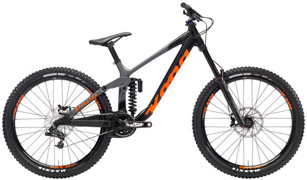 Kona Operator Color: Matt Charcoal/Black w/Orange Decals