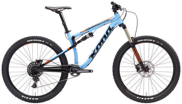 Kona Precept 150 Color: Gloss Cyan/Black/Orange/Silver